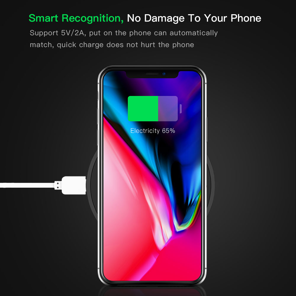QI Standard Smart Phone Wireless Charger