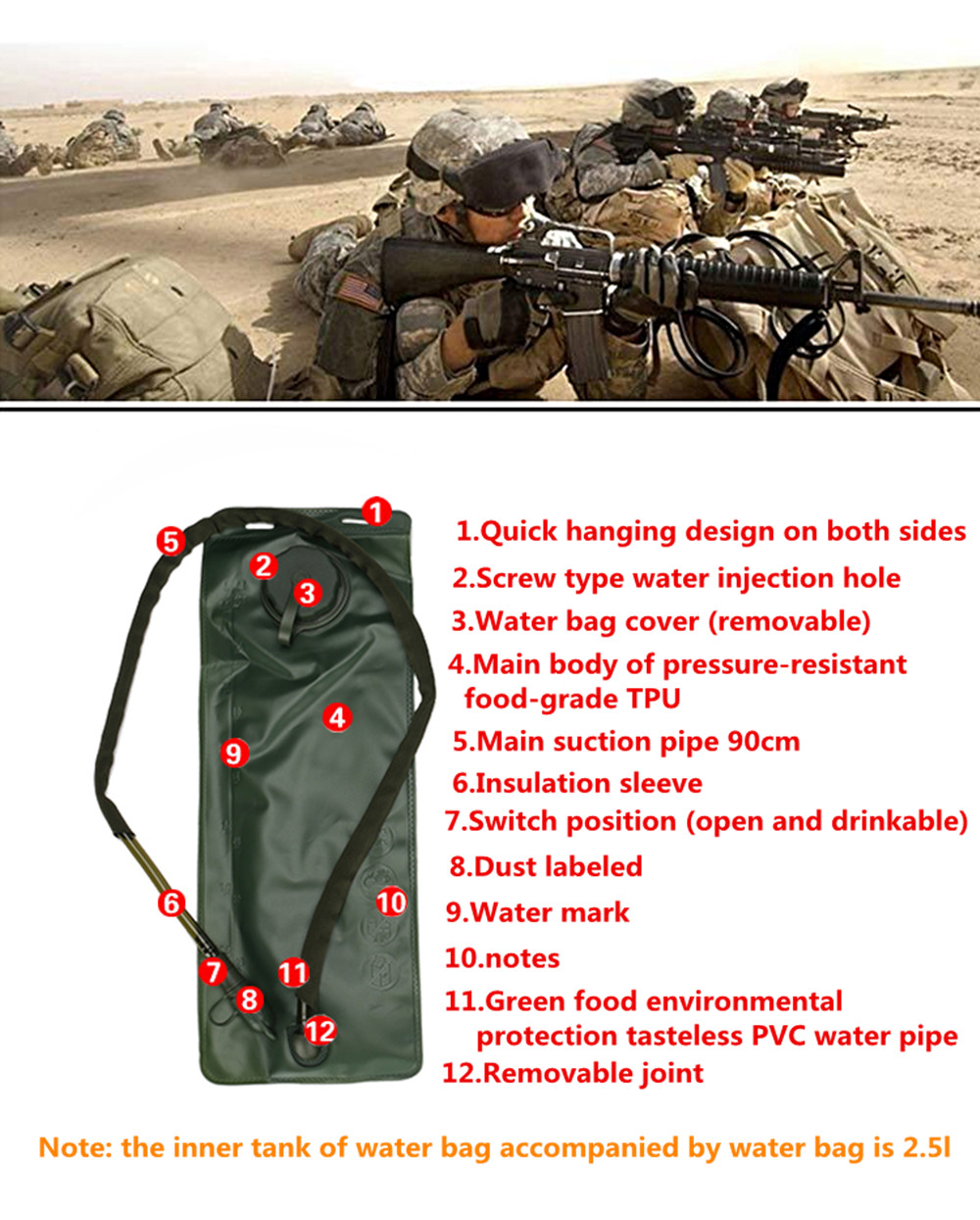 Outdoor Sports Camouflage Tactical Water Bag