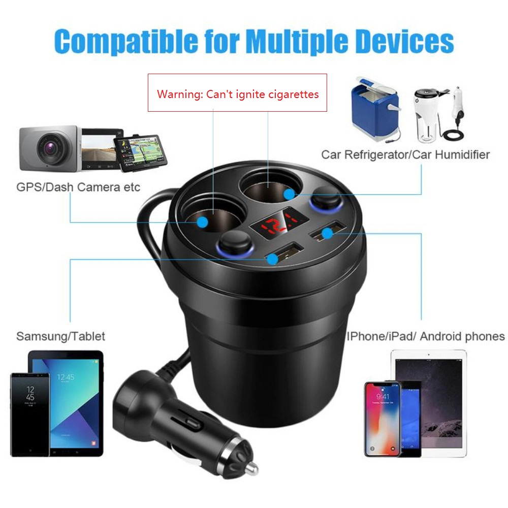Prosper Multi-Function Cup Car Charger