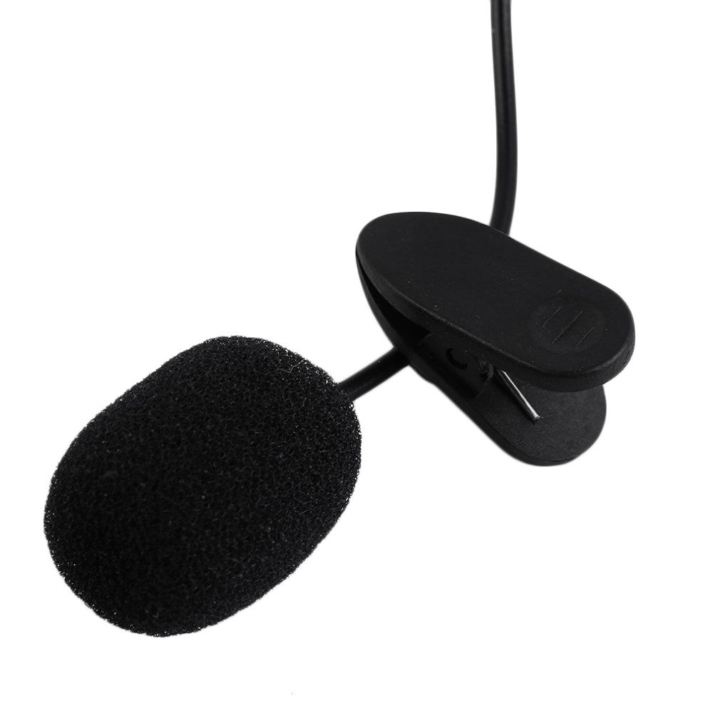Portable External 3.5mm Hands-Free Mini Wired Collar  Lavalier Microphone