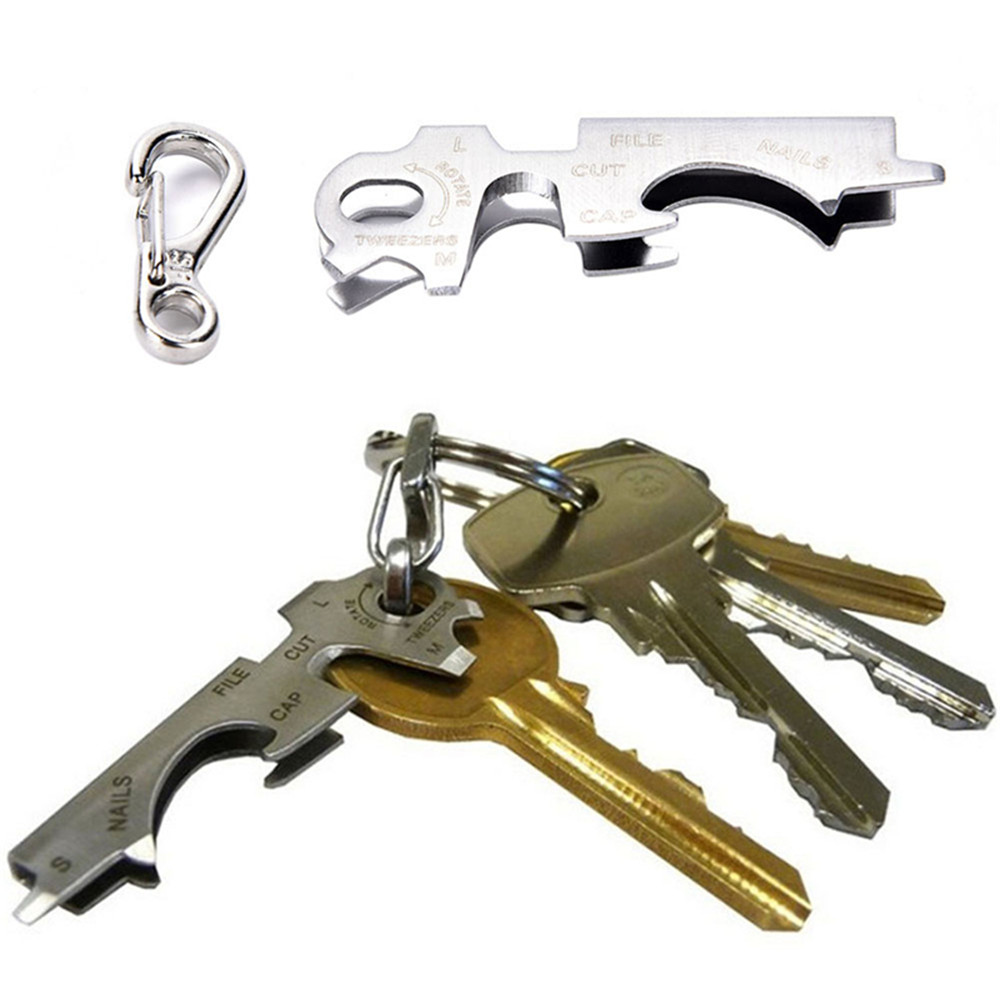 Outdoor 7 In1 Keychain Multitool Steel Multi Tool