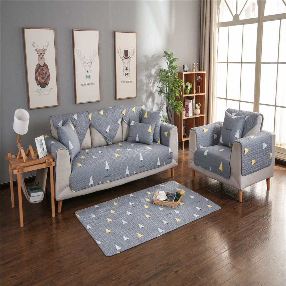 Four Seasons Fresh Pattern Cotton Sofa Cushion (70 x 70CM)
