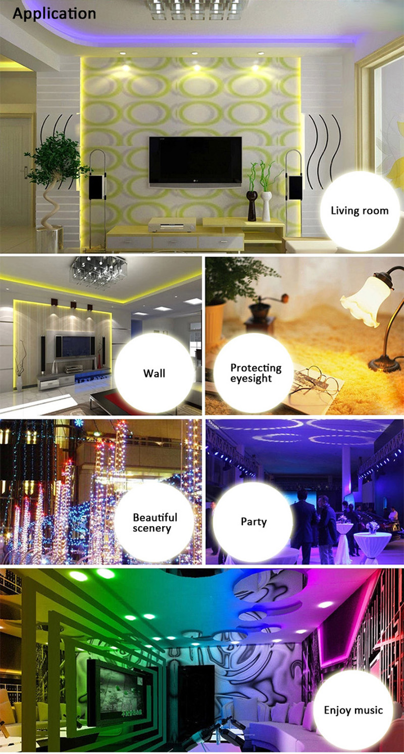 Jiawen Waterproof Ip65 5050 Smd 60LEDS/M Rgb Led Strip Light with Wi-Fi Controller, Dc12v Us Power Adapter