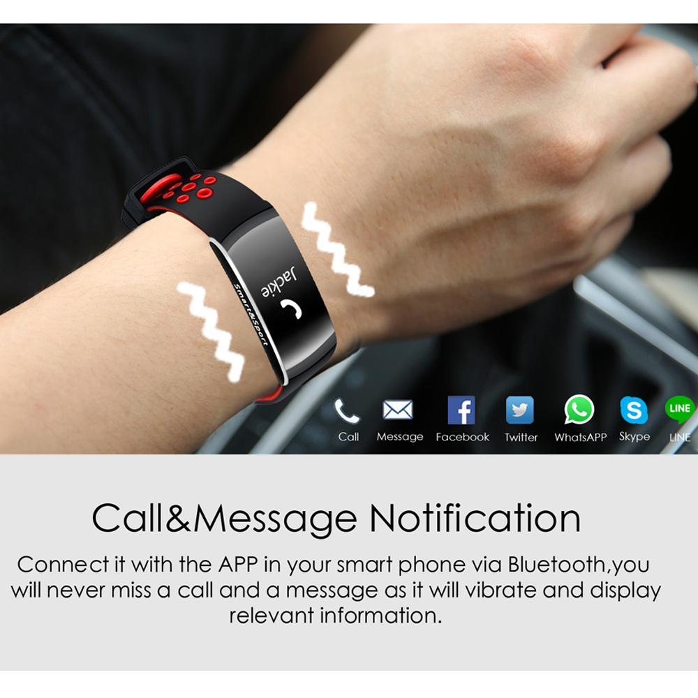 Q8 IP68 Blood Pressure Heart Rate Monitor Fitness Tracker Smart Wristband Bracelet For iOS/Android