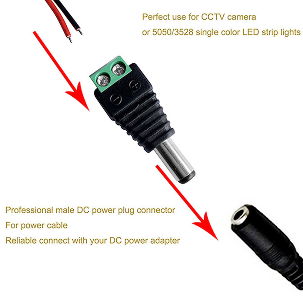 YWXLight 2PCS DC Connector Male Female for Led Lamp Strip