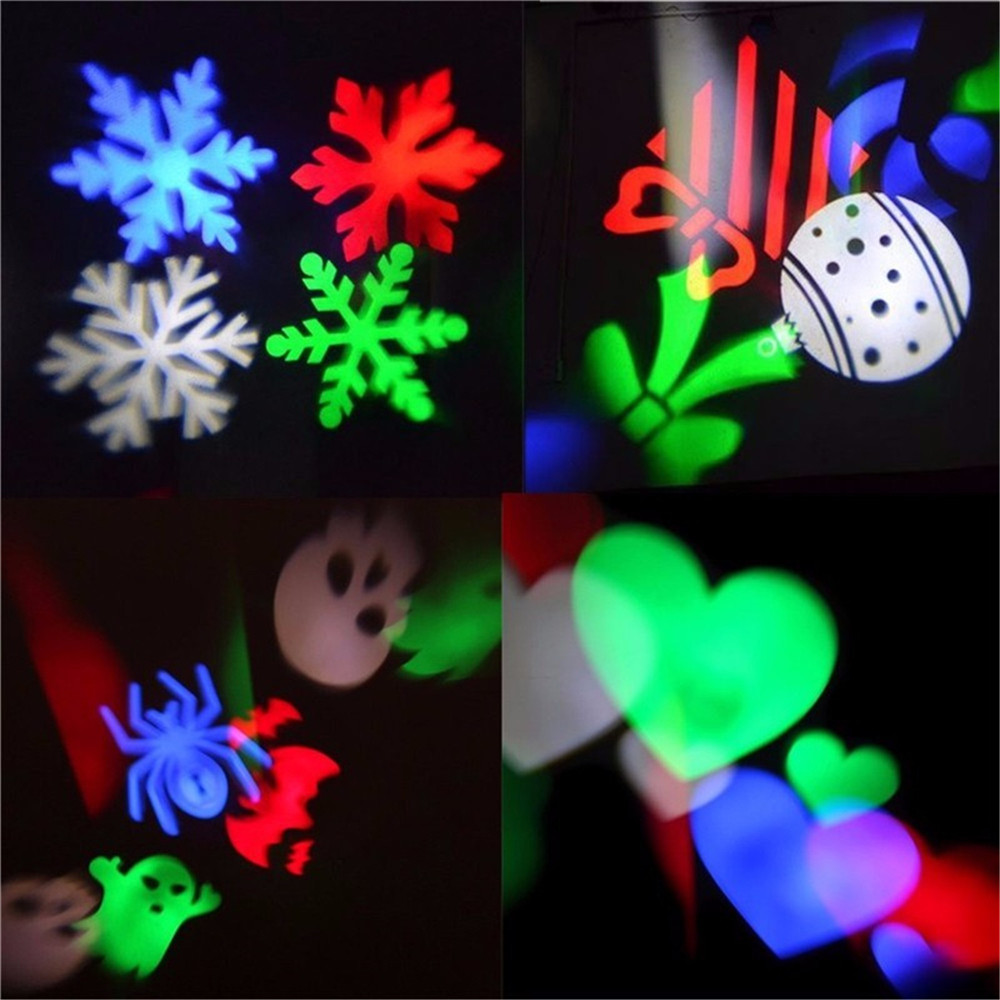YWXLight LED Projection Lights Snowflake Christmas Light Outdoor Lighting AC 100 - 240V