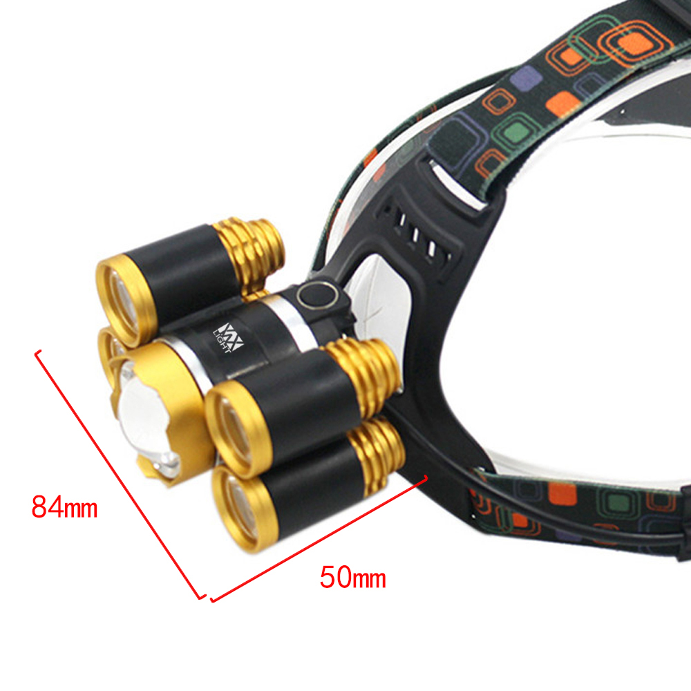 YWXLight 40W Super Bright Rechargeable Zoomable Waterproof Head Torch for Outdoor Hiking