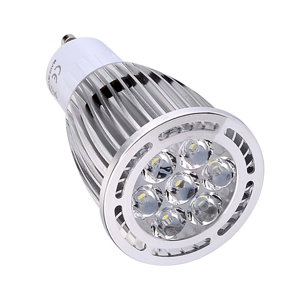 YWXLight 10PCS  GU10 7W 7-LED Recessed Lighting LED Spotlight AC 85 - 265V