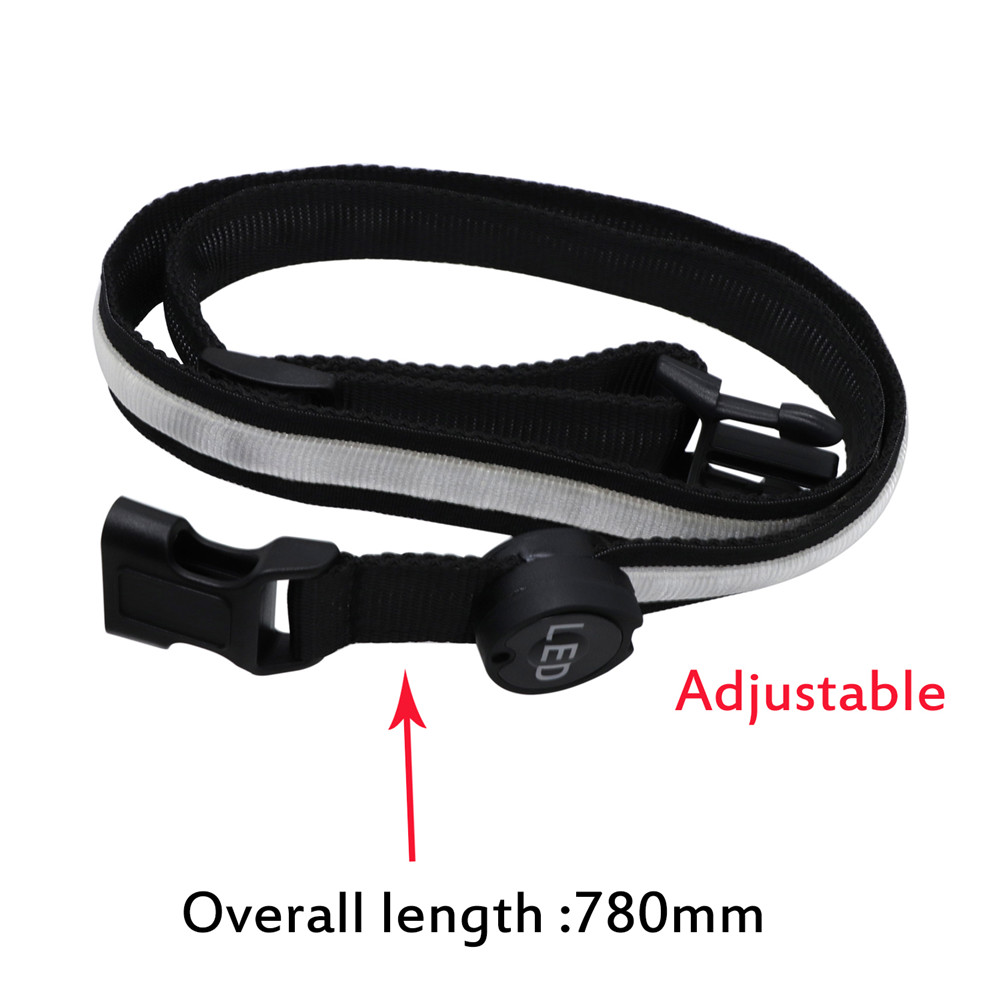 YWXLight Safety Reflective Luminous Waistband LED Bike Jogger Runway Flashing Belt