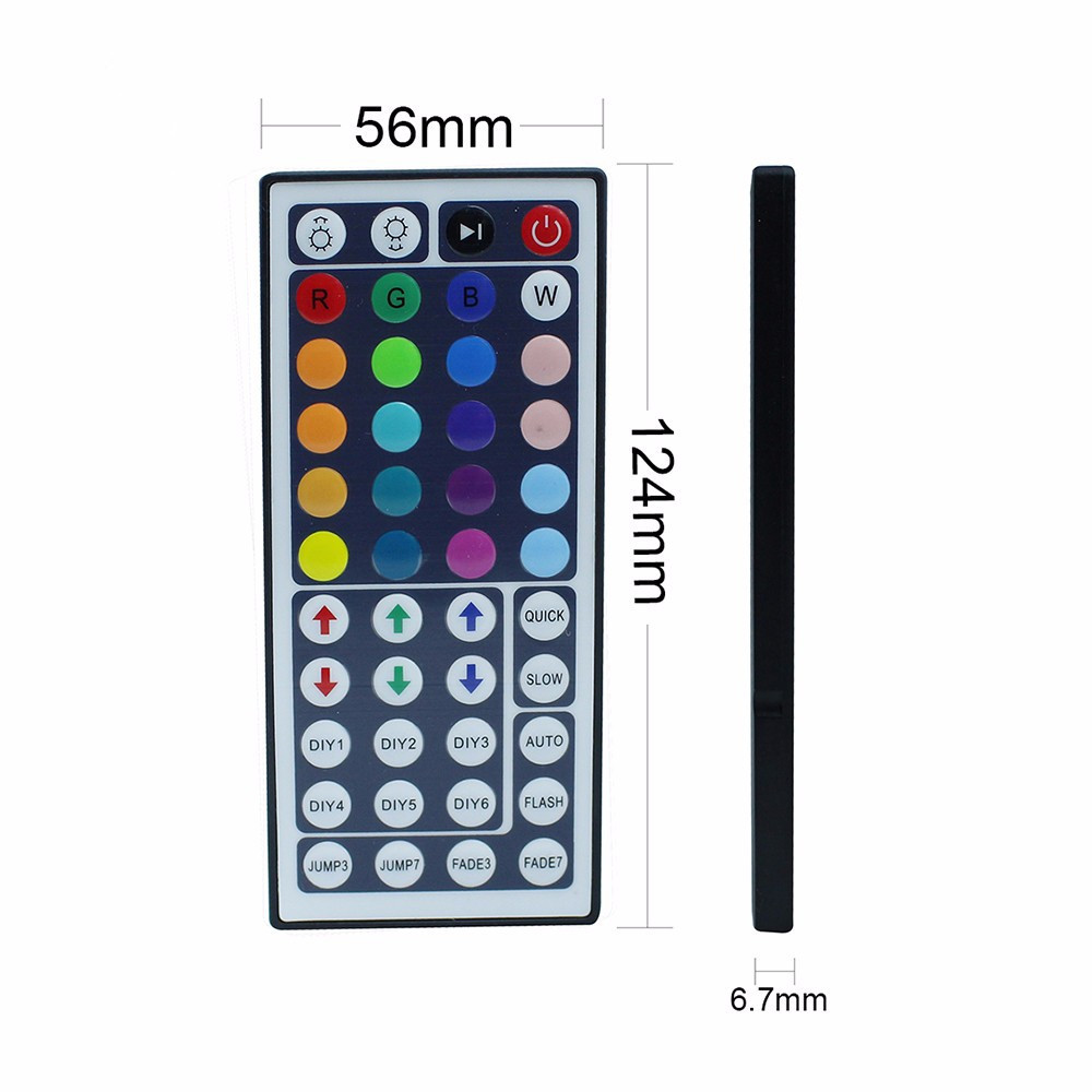 YWXLight 44 Keys Dual Connectors Output IR Remote RGB Dimmer