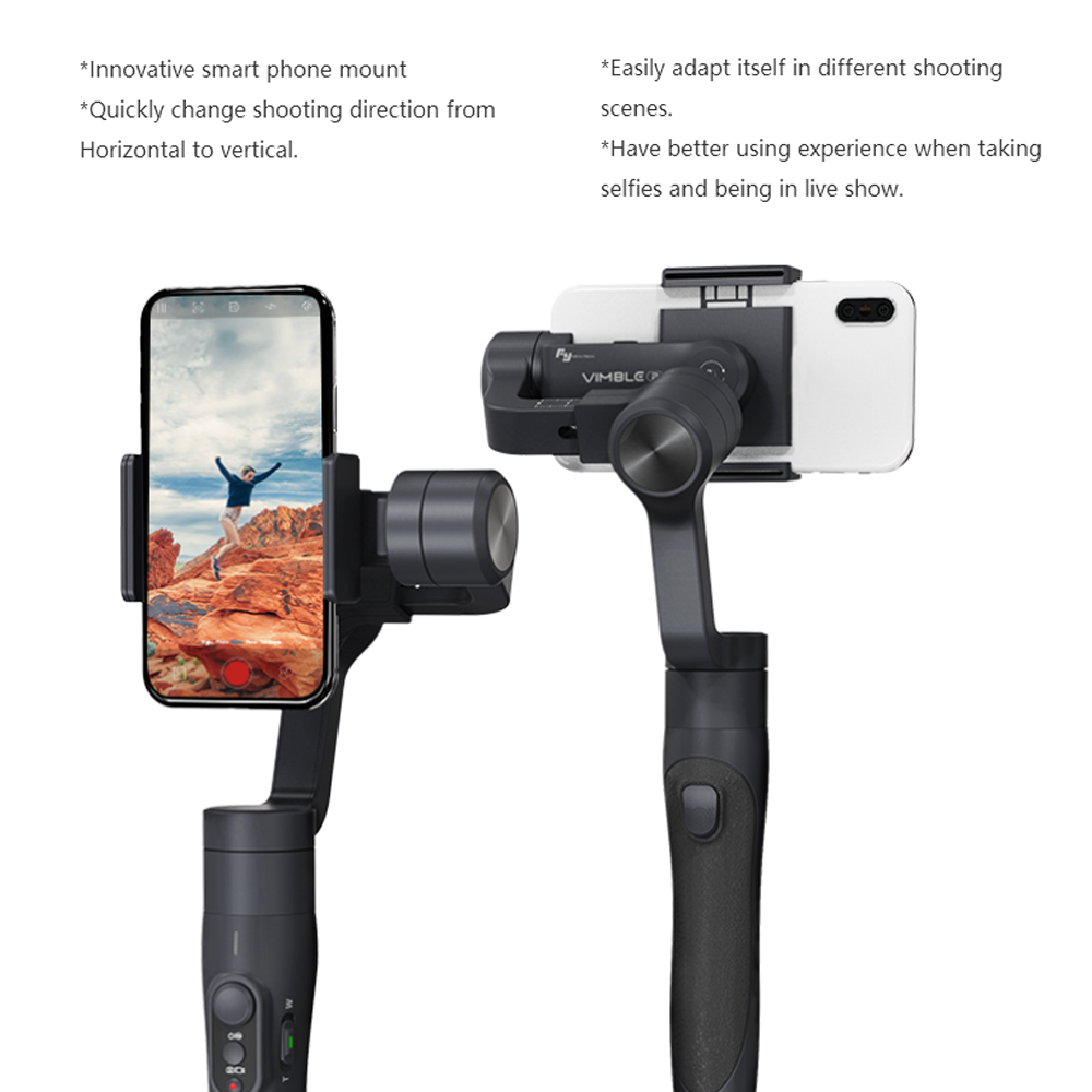 FY FEIYUTECH  Vimble 2 Extendable Handheld 3-axis Gimbal Stabilizer for Smartphone