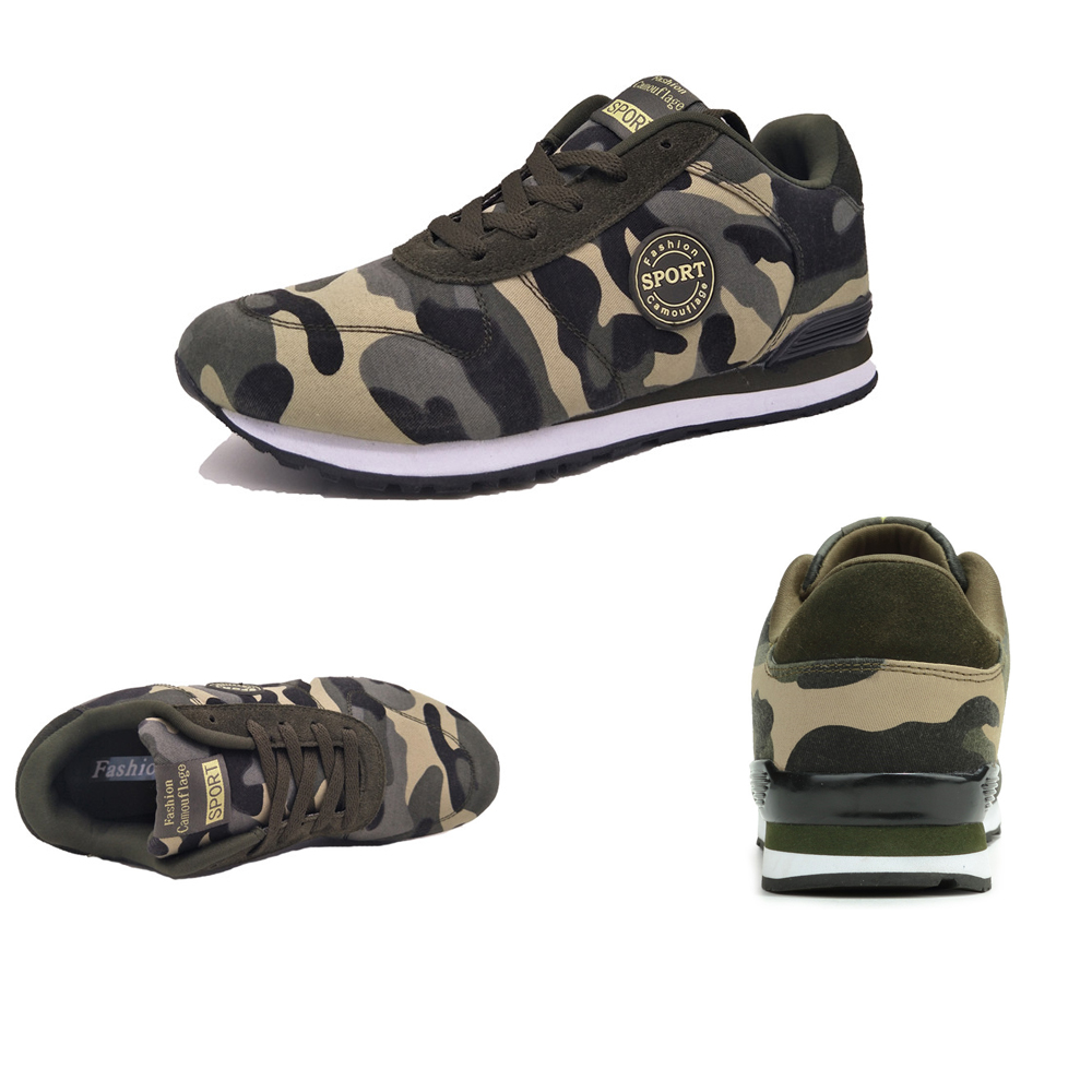 ZEACAVA Men's Canvas Pattern Camouflage Ventilate Fashion Sports Shoes
