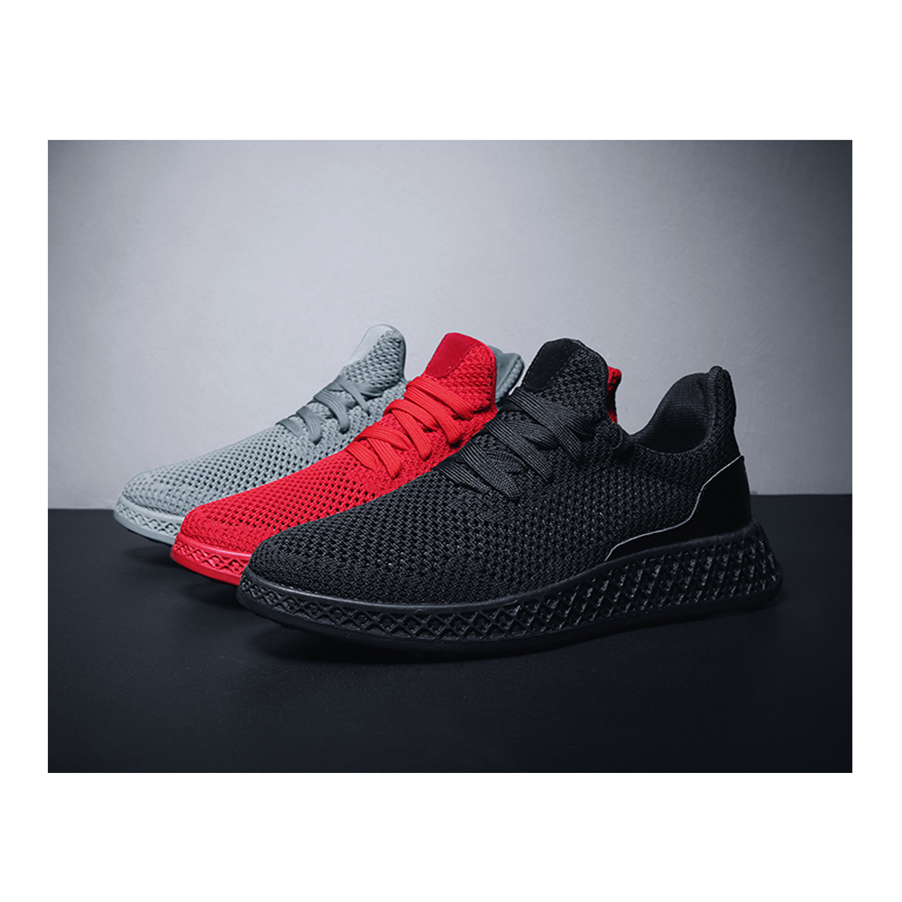 ZEACAVA Summer 3D Flying Woven Breathable Sports Mesh Shoes