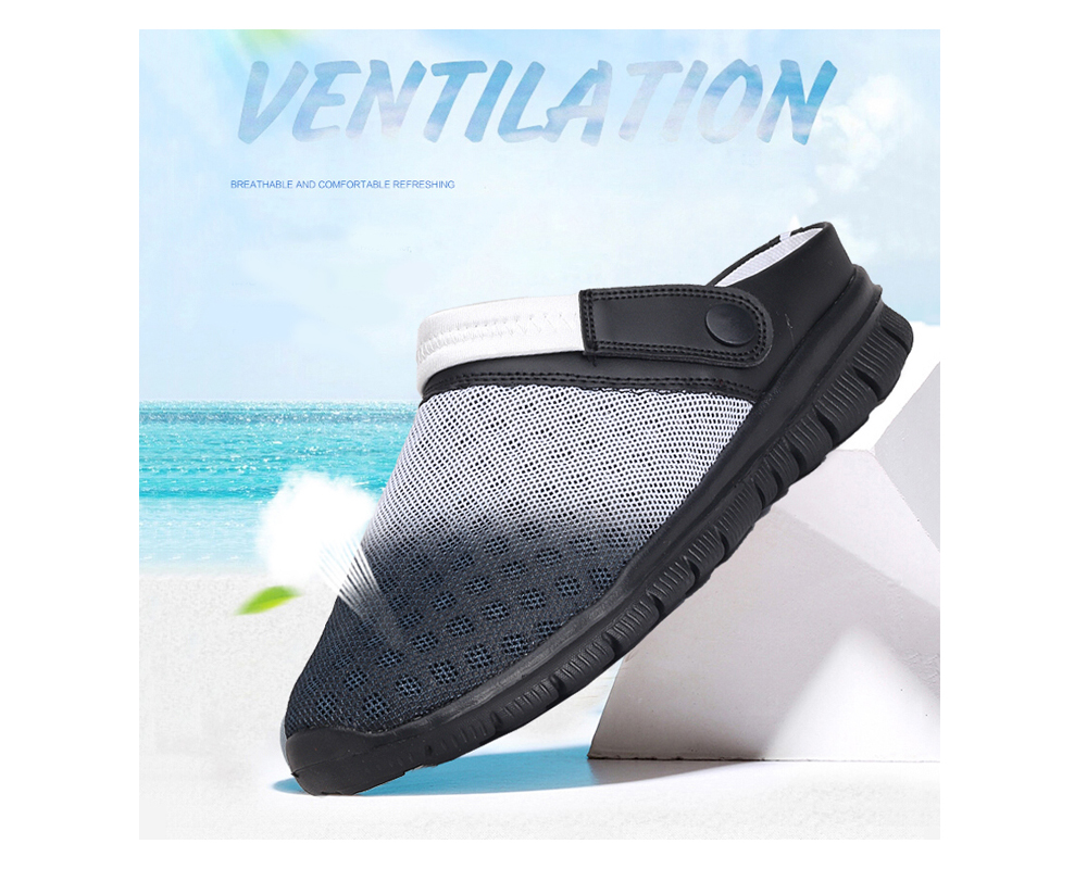 ZEACAVA Men Summer  Breathable Mesh Summer Beach Slippers