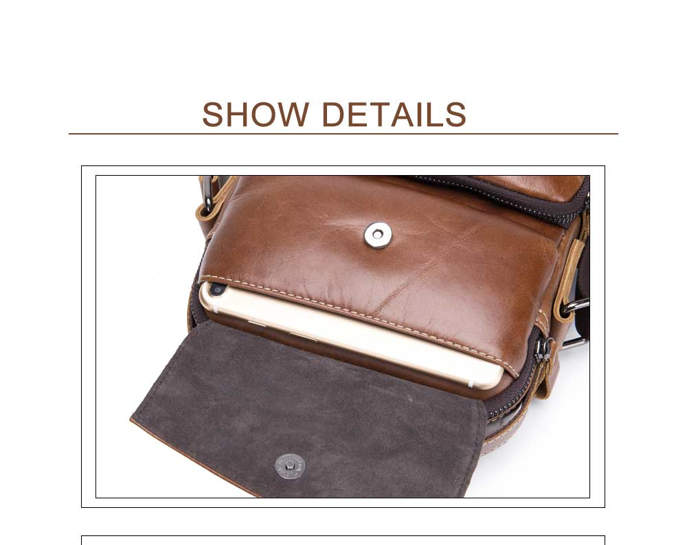Mens Leather Shoulder Messenger Bag Hand Titus Function