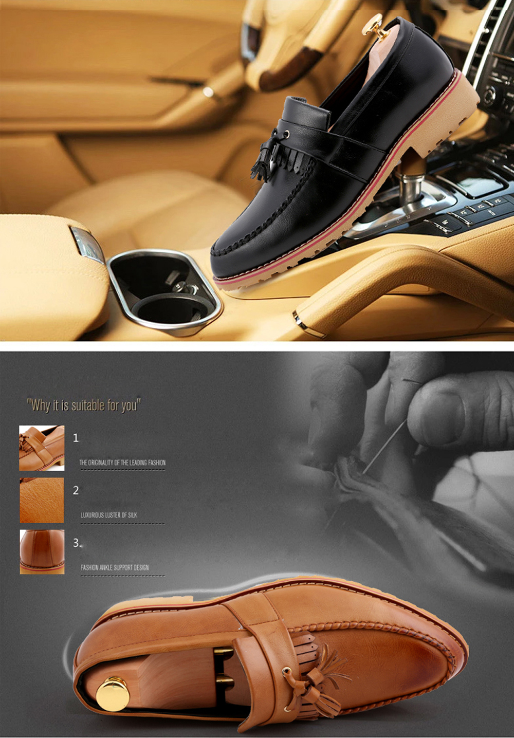 Men Casual Fashion Business Leather Shoes