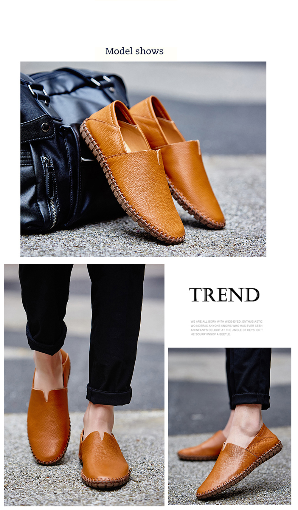 Plus Size Loafers Drive Slip on Sneakers Soft Male  Men Peas Shoes
