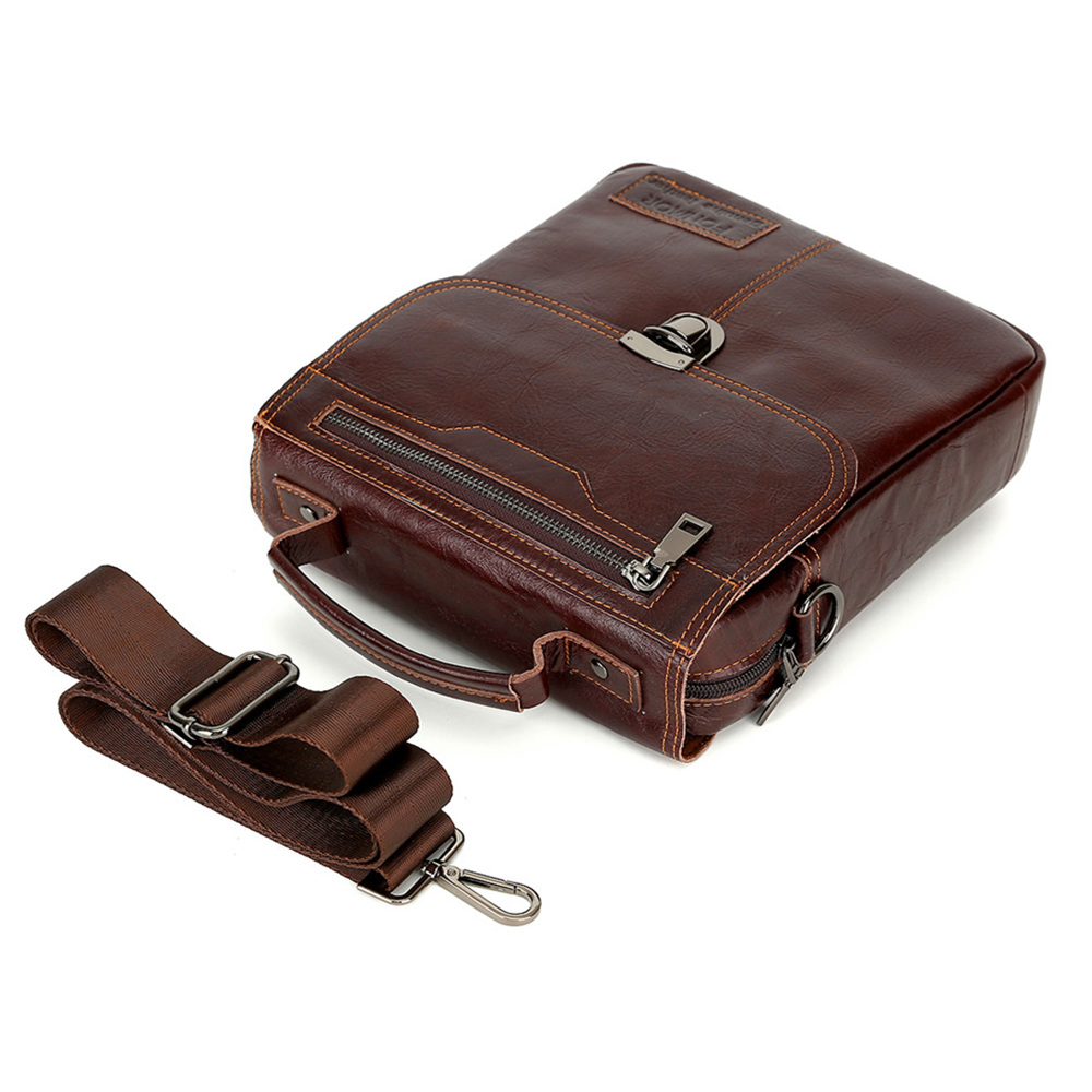 Brand Men's Handbags Vintage Genuine Leather Shoulder Bags High Quality Briefcase For Men Business Tote ipad New Crossbo