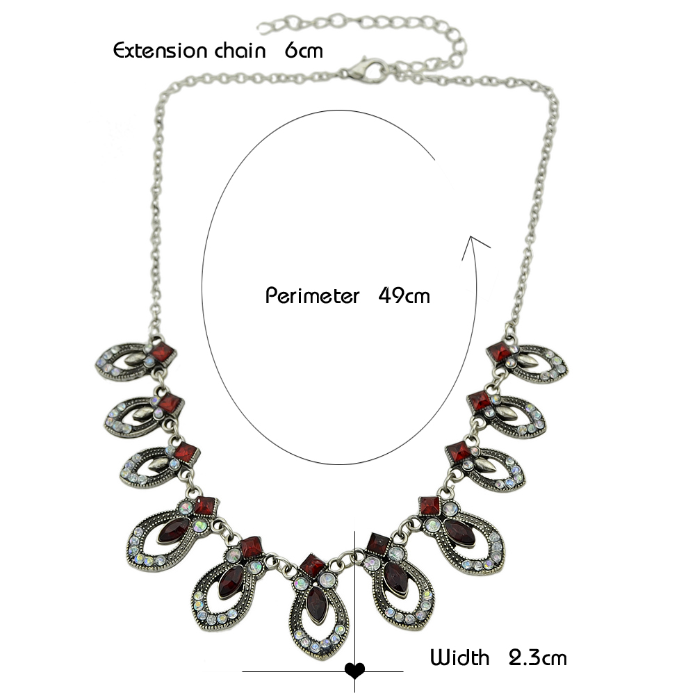 Rhinestone Maxi Collar Necklace and Drop Earrings