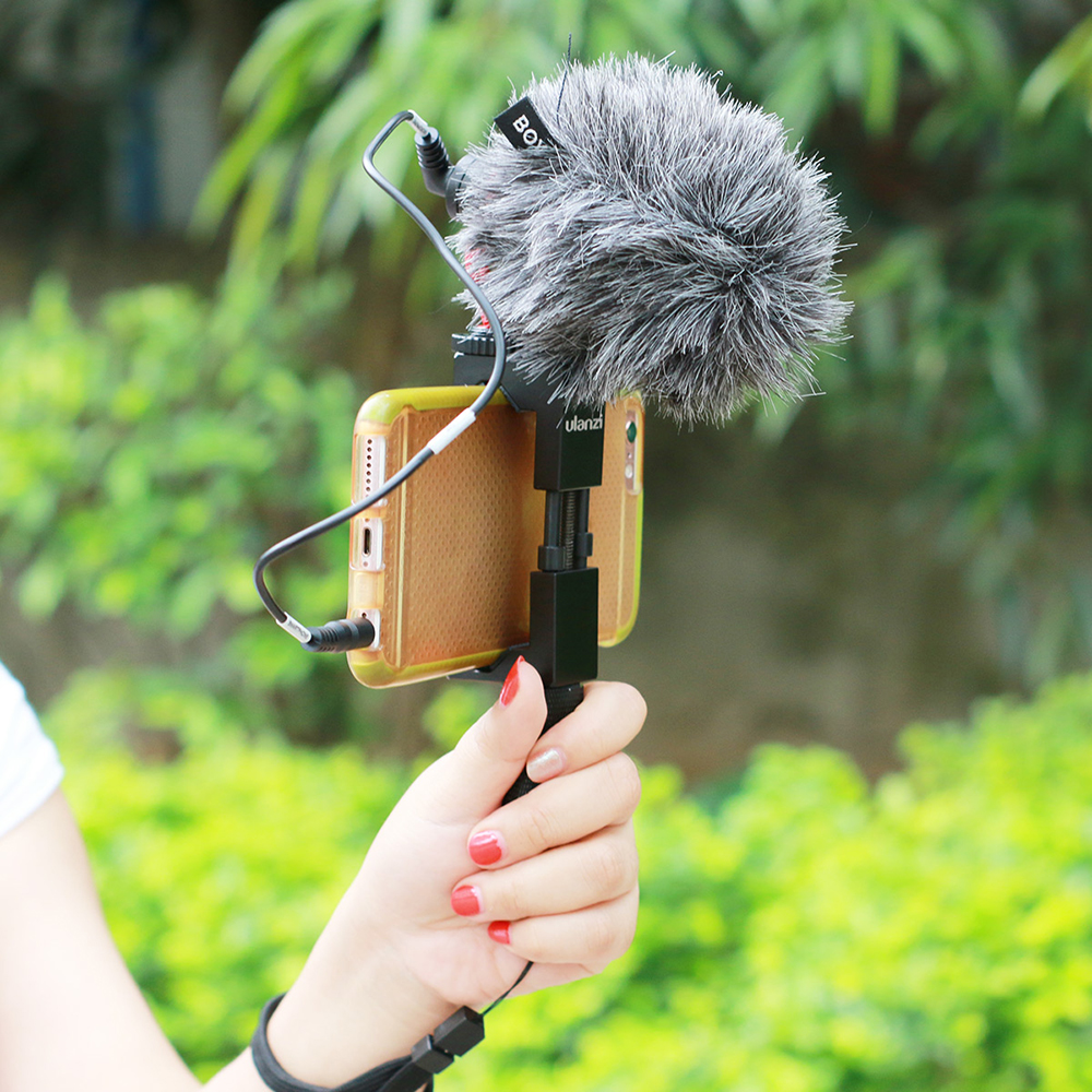 BOYA BY-MM1 Compact On-Camera Video Microphone Youtube Vlogging Recording Mic for iPhone Smartphone DJI Osmo Canon DSLR