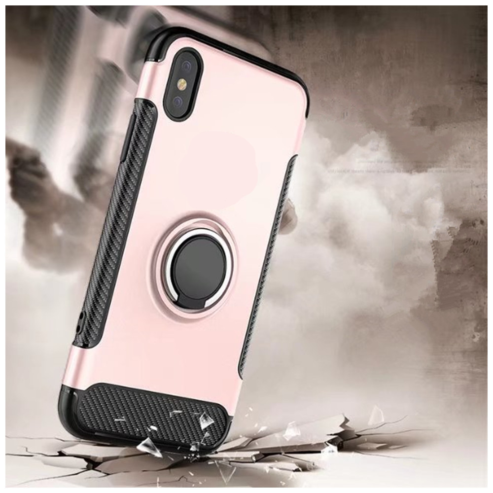 2 in 1 Shockproof 360 Degree Rotating Ring Stand with Case for iPhone X