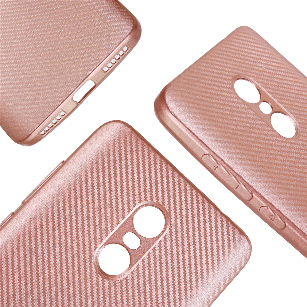 Cover Case for Redmi Note 4X Soft Carbon Fiber Luxury TPU