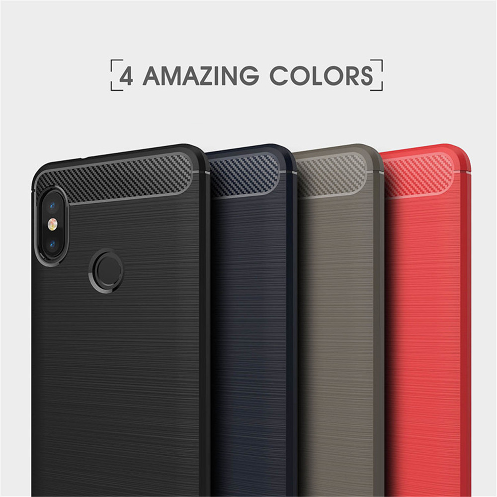 Cover Case for Redmi Note 5/ Note 5 Pro Carbon Fiber TPU Drawing Material