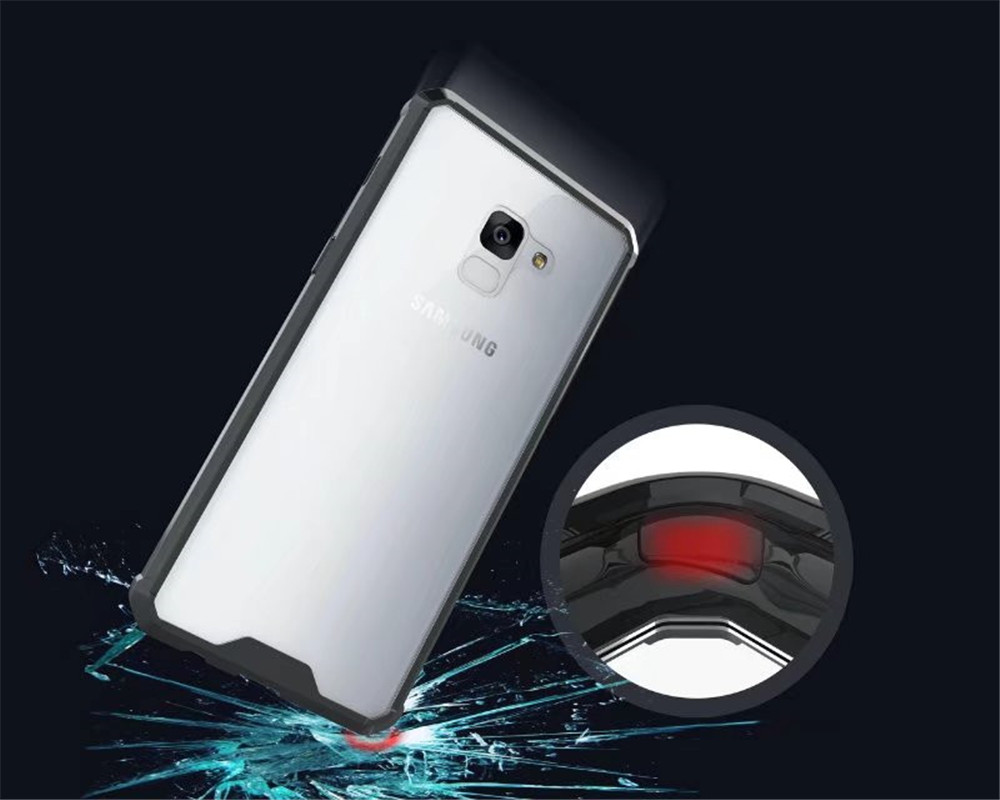Cover Case for A7 2018 / A8 Plus 2018 Luxury Shockproof Hybrid Armor Crystal Hard PC Back Full Protection Coque Fundas