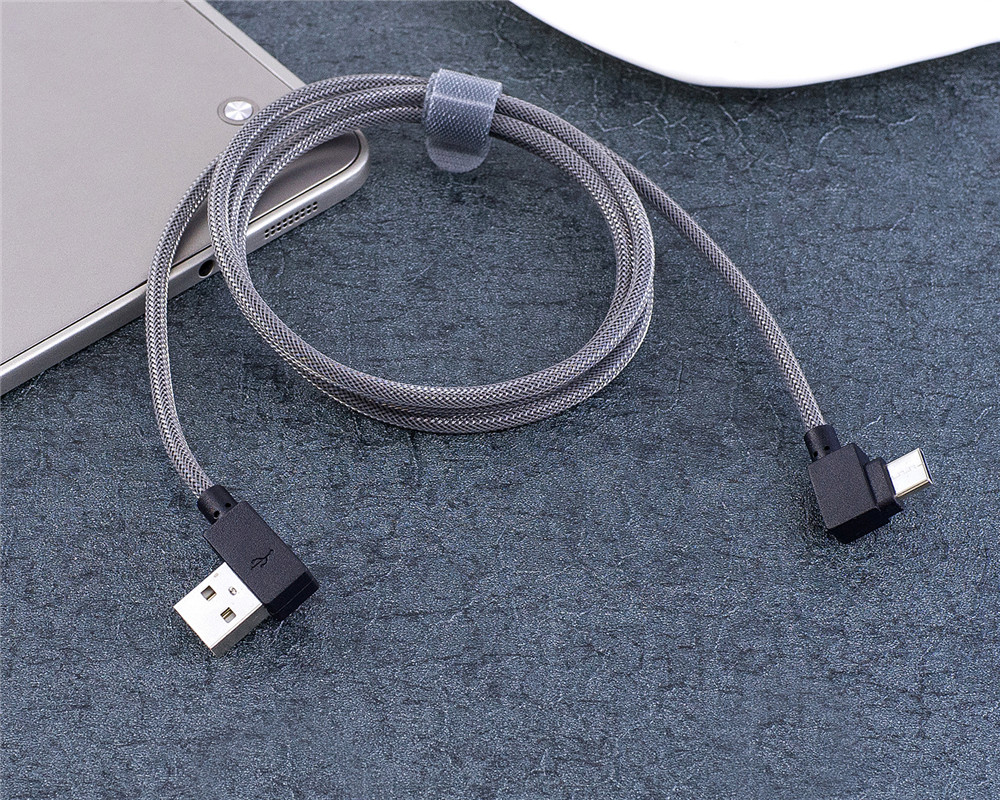 90 Degree Type-C Fast Charging Cable