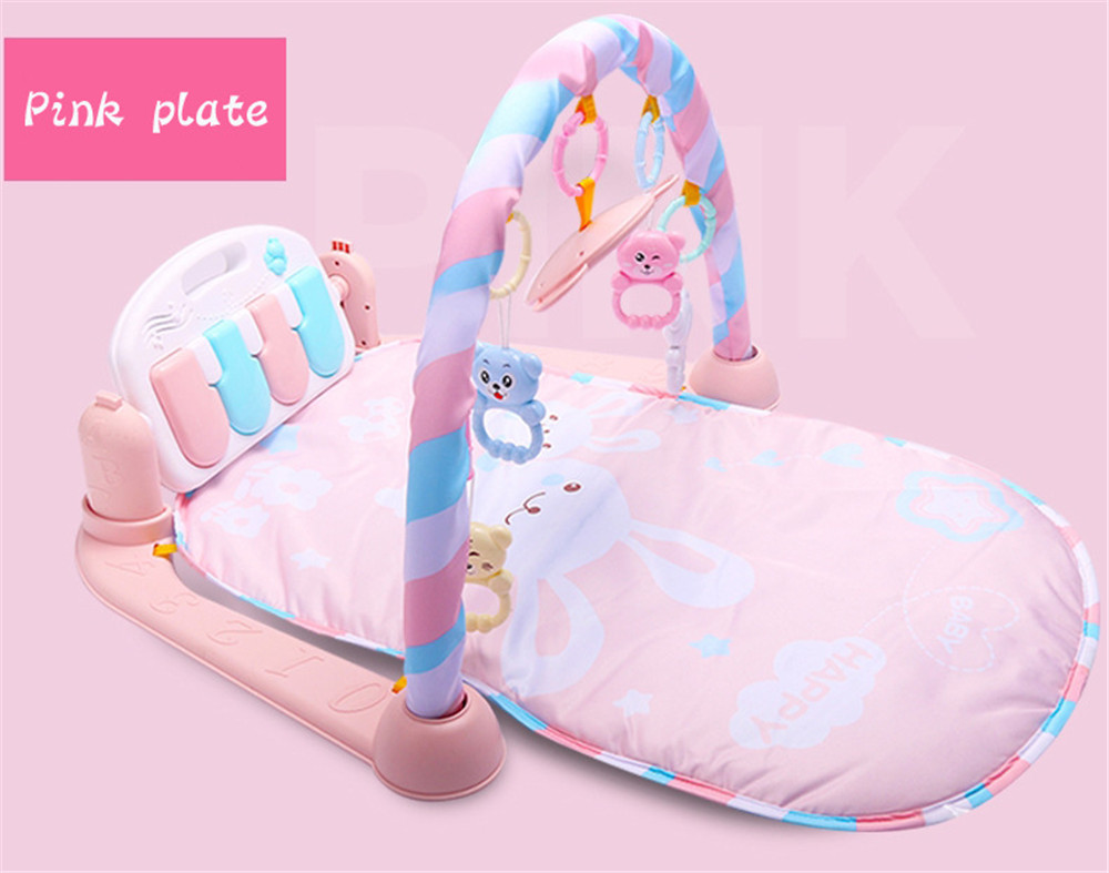 Baby Fitness Play Lay Mat Piano Rack Music Game Blanket Mirror Hanging Toy