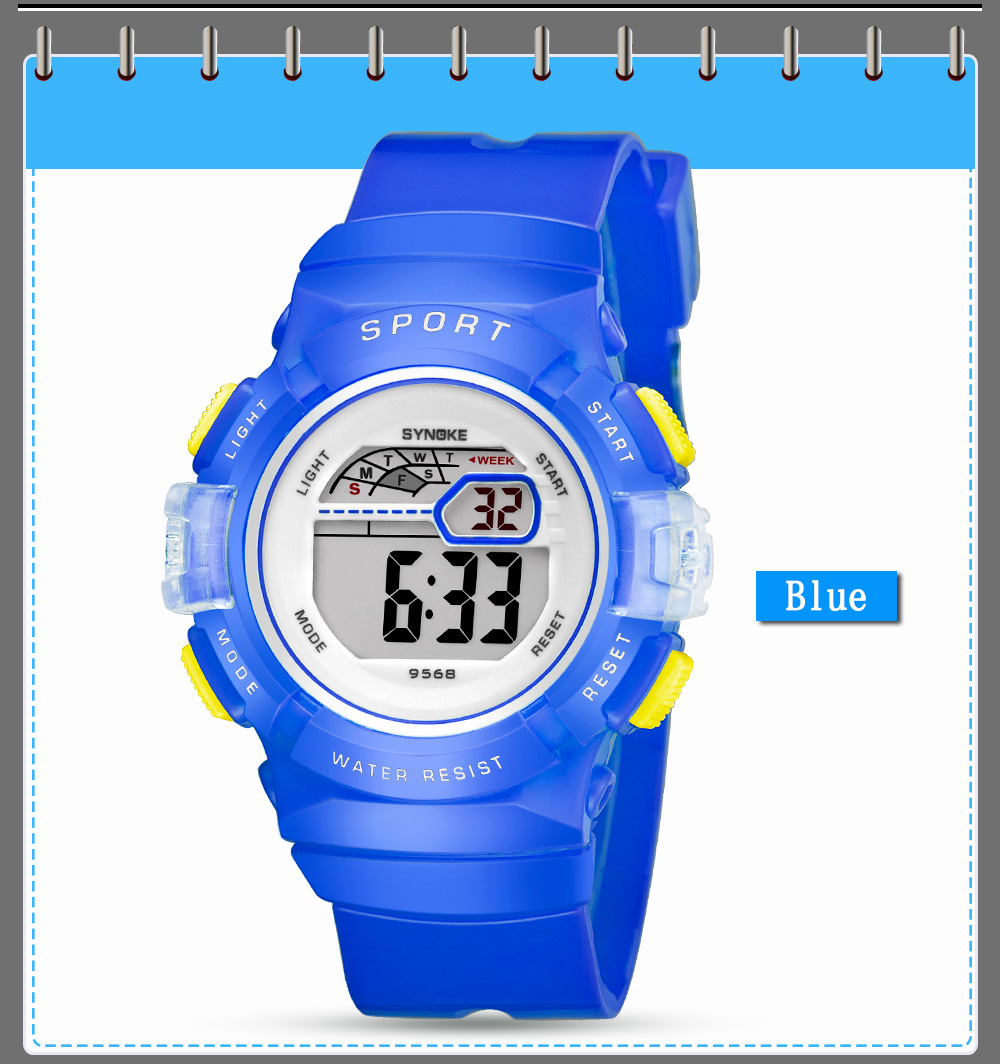 SYNOKE 9568 Multifunctional Digital Sports Kids Watch