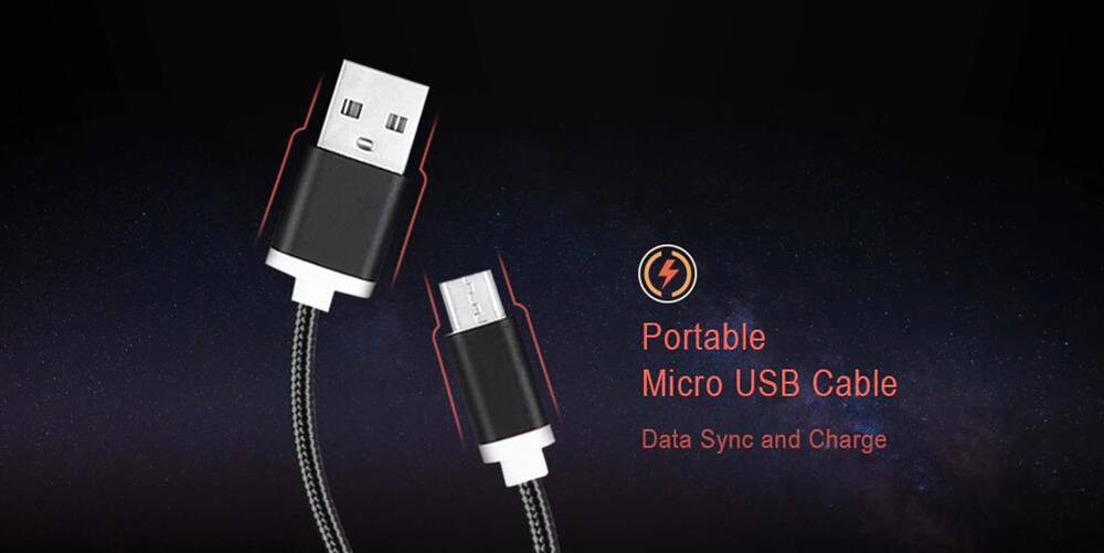 1.5M Nylon Braid Micro USB Data Charging Cable for Android Mobile Phones