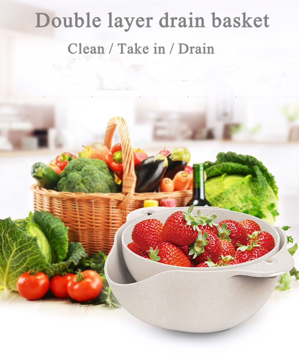 Fruit Vegatabale Colander Double Layer  Drain Basket