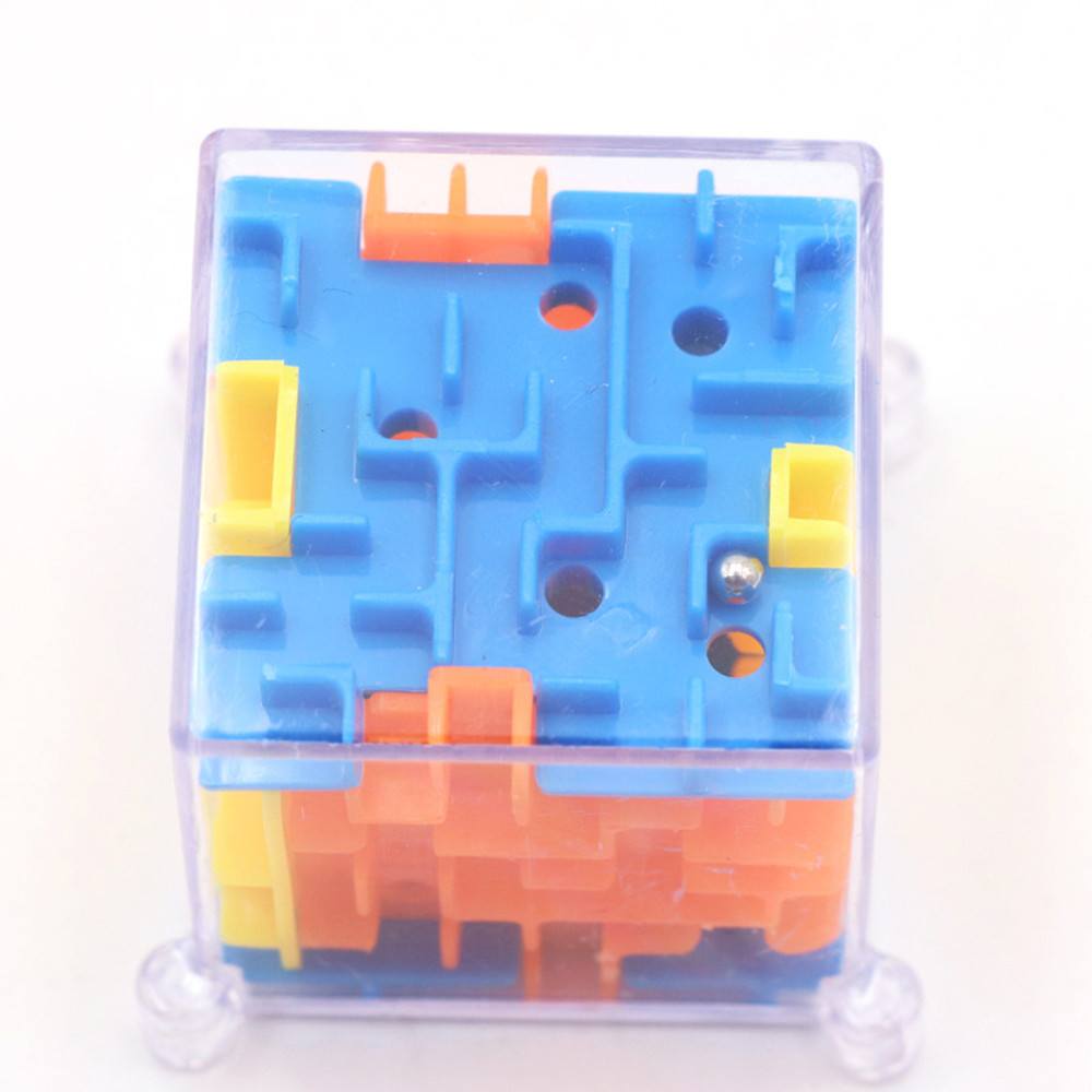 Funny 3D Maze Magic Cube Puzzle Speed Game Labyrinth Ball Educational Toys