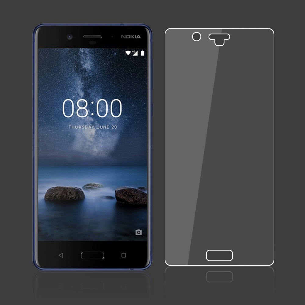 Screen Protector for Nokia 8 High Sensitivity Clear Premium Tempered Glass