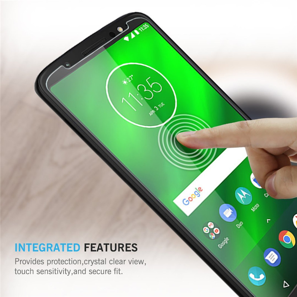 2PCS Screen Protector for Moto G6 Plus High Clear Premium Tempered Glass
