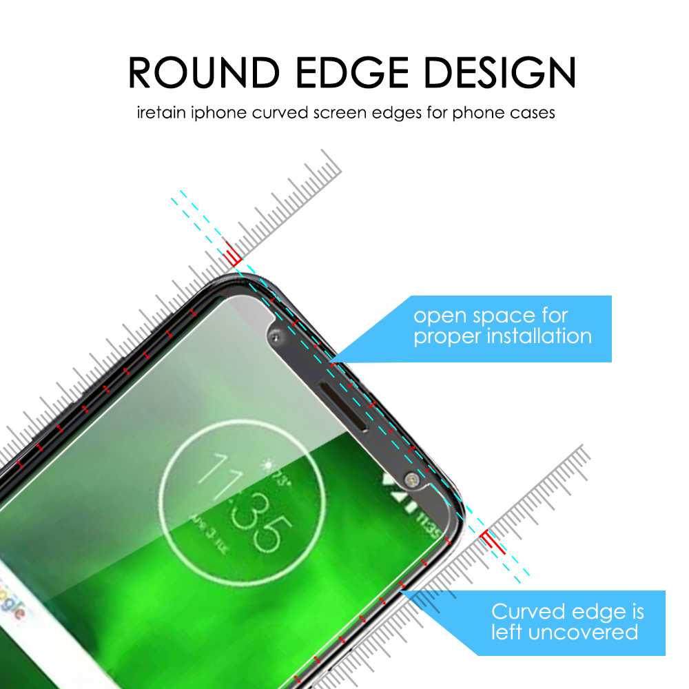 2PCS Screen Protector for Moto G6 High Clear Premium Tempered Glass