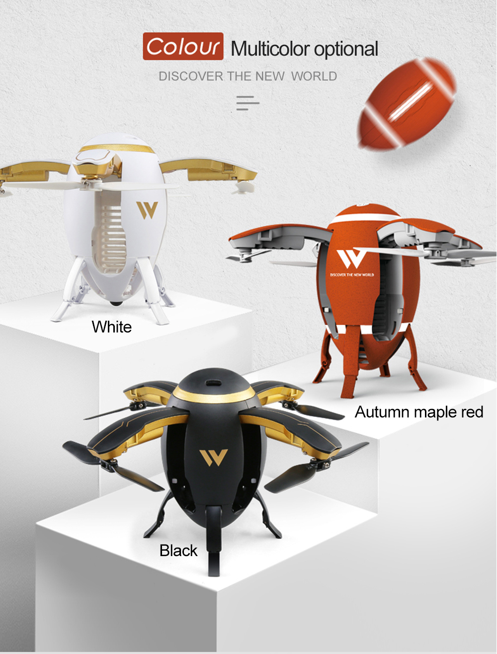 Attop W5 Foldable Design RC Drone with Headless Mode