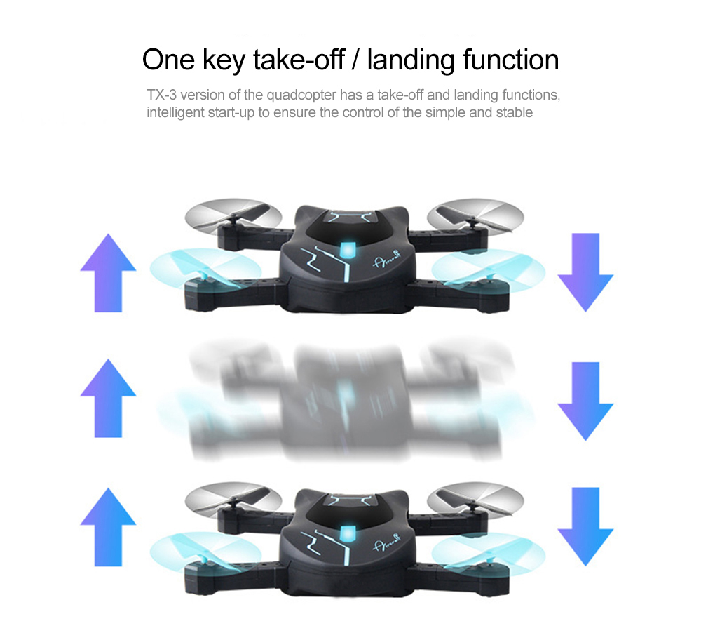 Attop XT-3 Folding RC Drone Aircraft / 360 Degree Flip