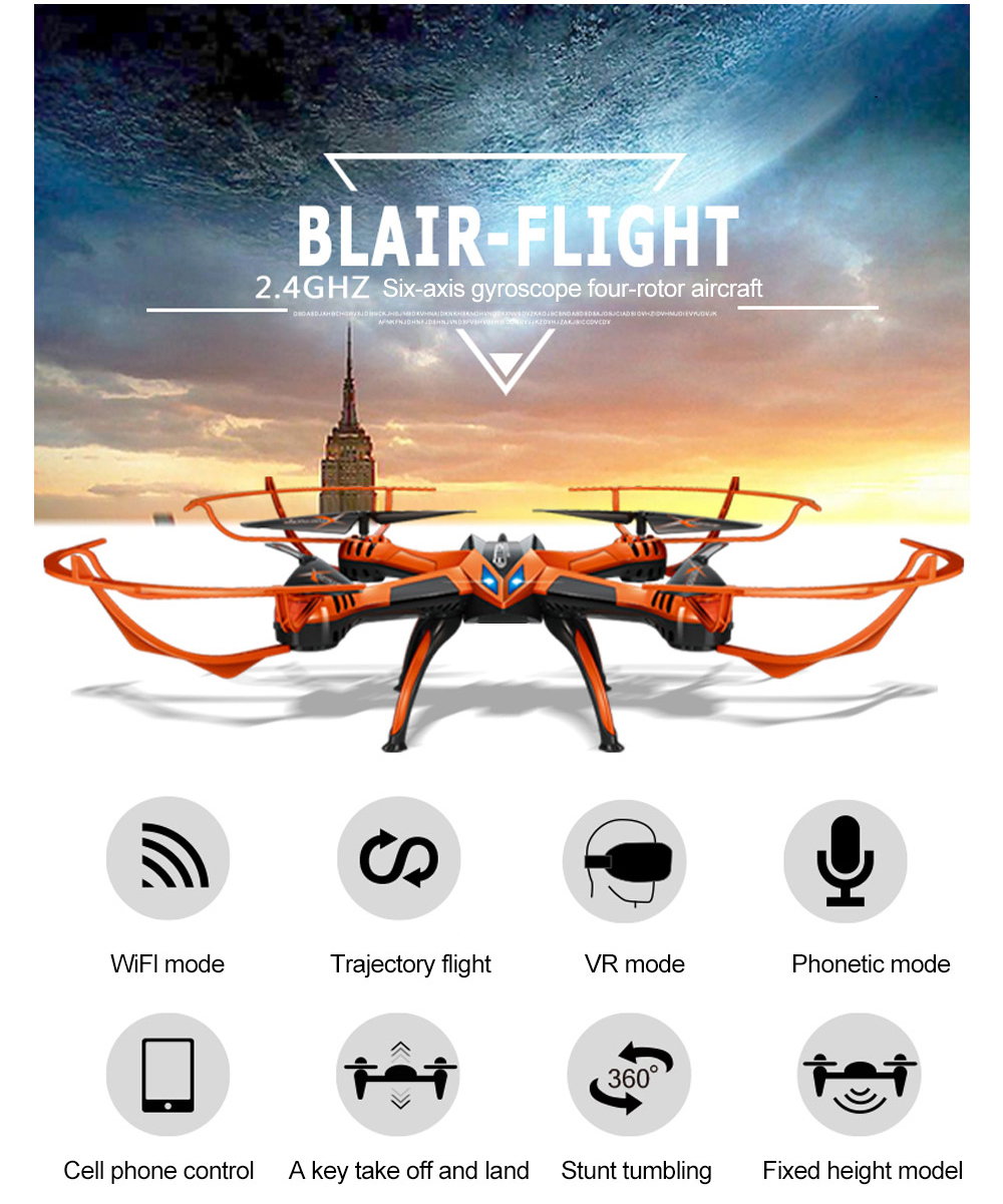 Attop A10 WiFi RC Drone with Real-time Transmission / 360 Degree Flip / 6-axis Gyroscope