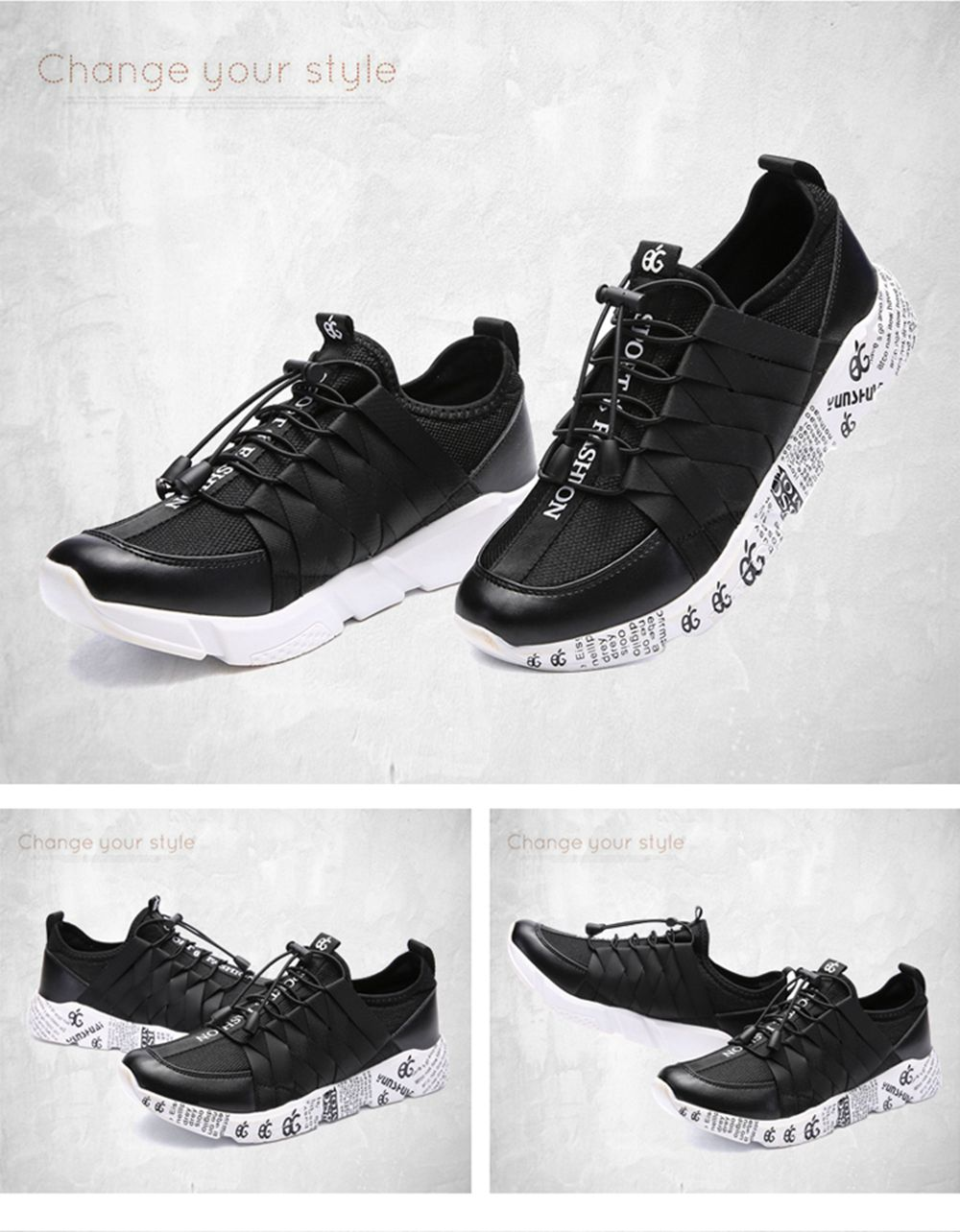 New Personality Lightweight Line Tidal Casual Shoes