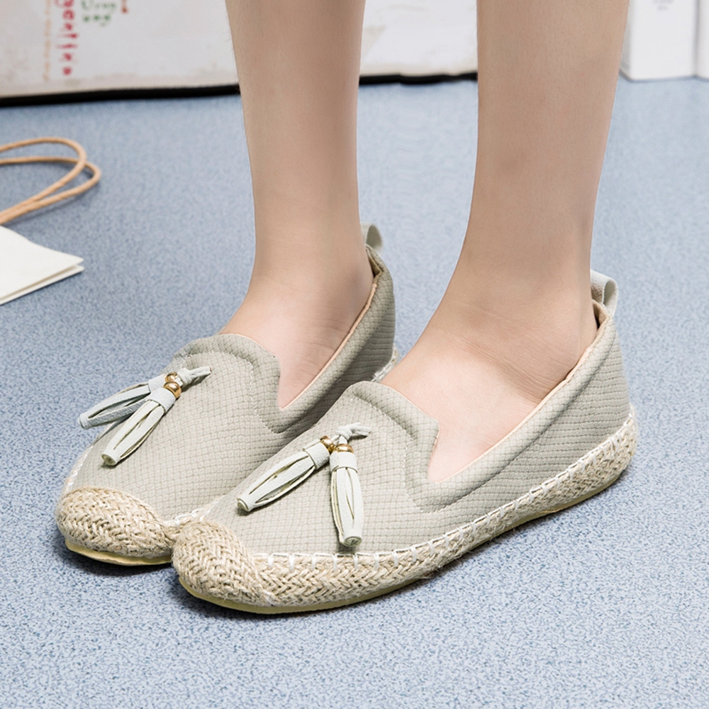 Lady's Breathable Double Color Moccasin-Gommino Shoes