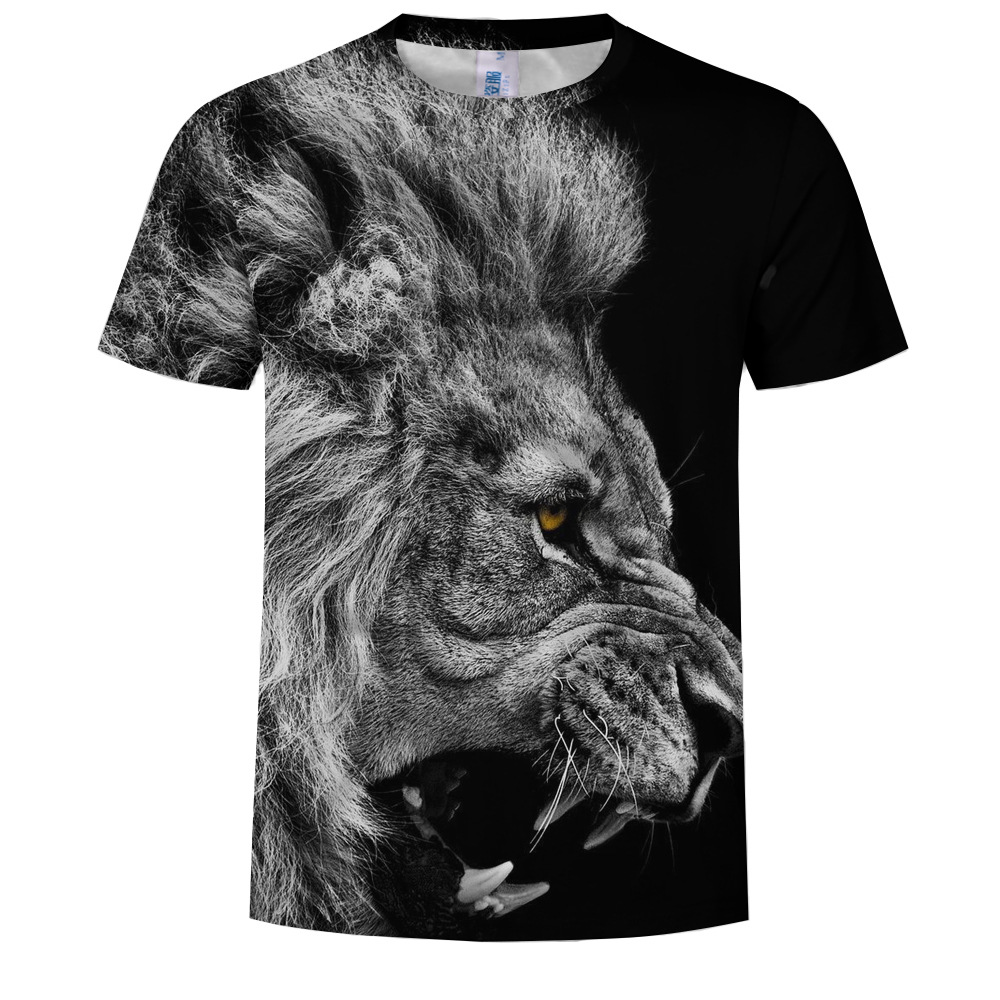 Lion 3D Printing Short-Sleeved T-shirt