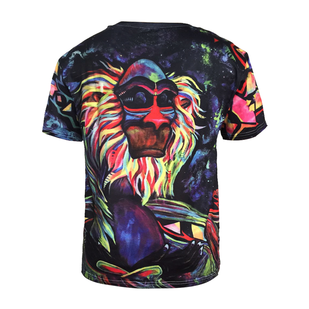 Trend Digital Printing Short-Sleeved T-Shirt