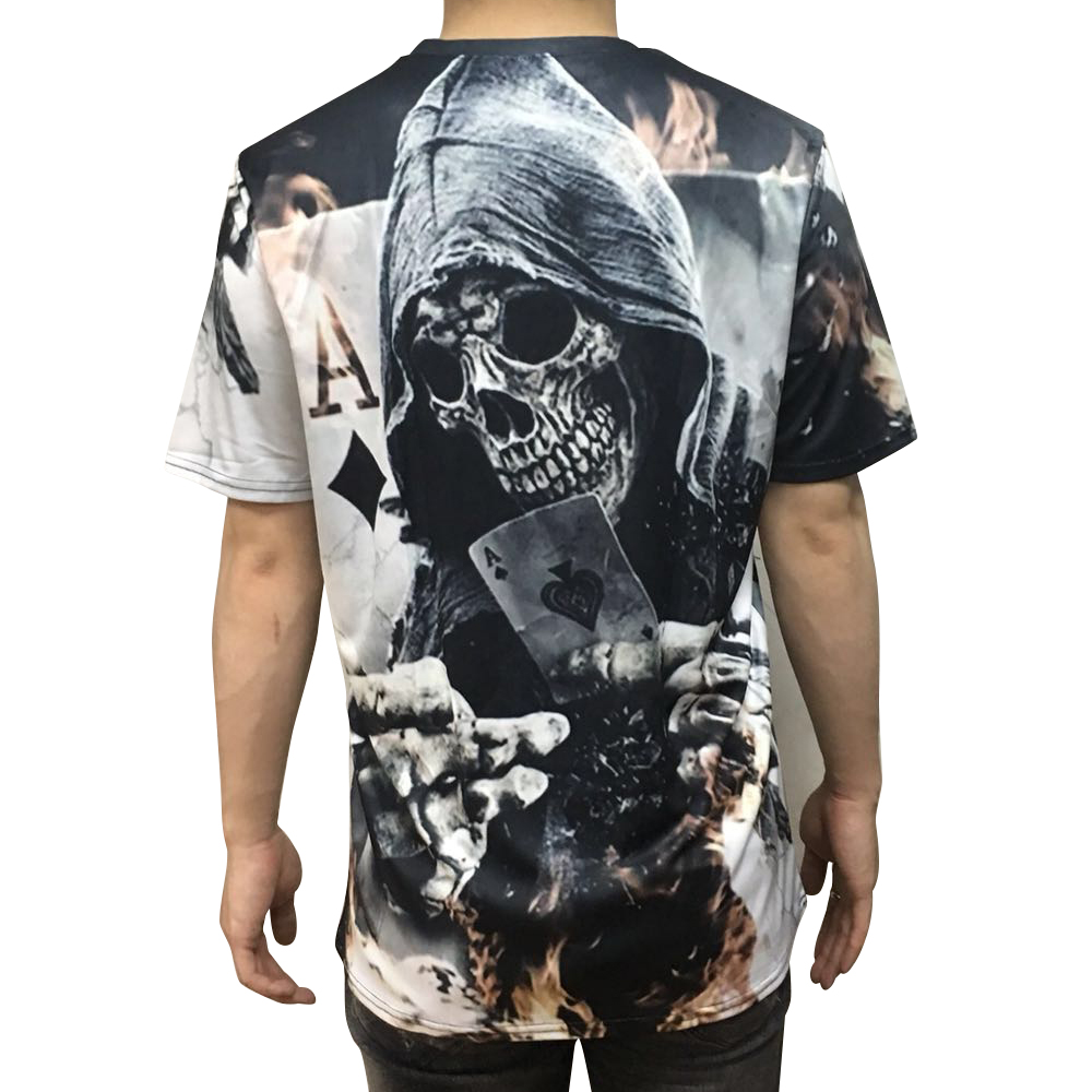 Skeleton Devil 3D Printing Short-Sleeved T-shirt