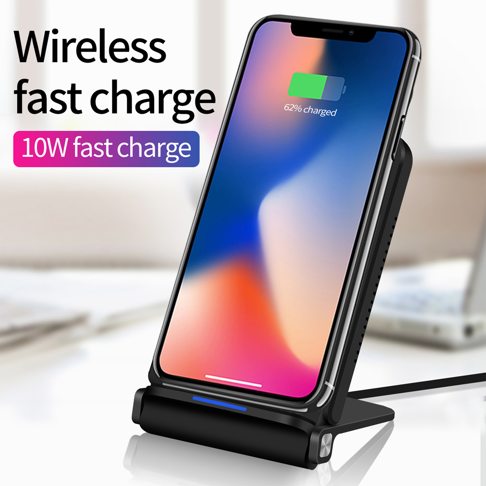 qi 9v fast wireless charger foldable wireless charging pad. Black Bedroom Furniture Sets. Home Design Ideas