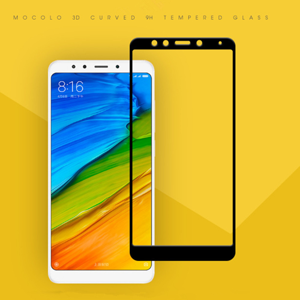 3D Full Cover Tempered Glass for Xiaomi Redmi 5 Plus HD Screen Protector Film