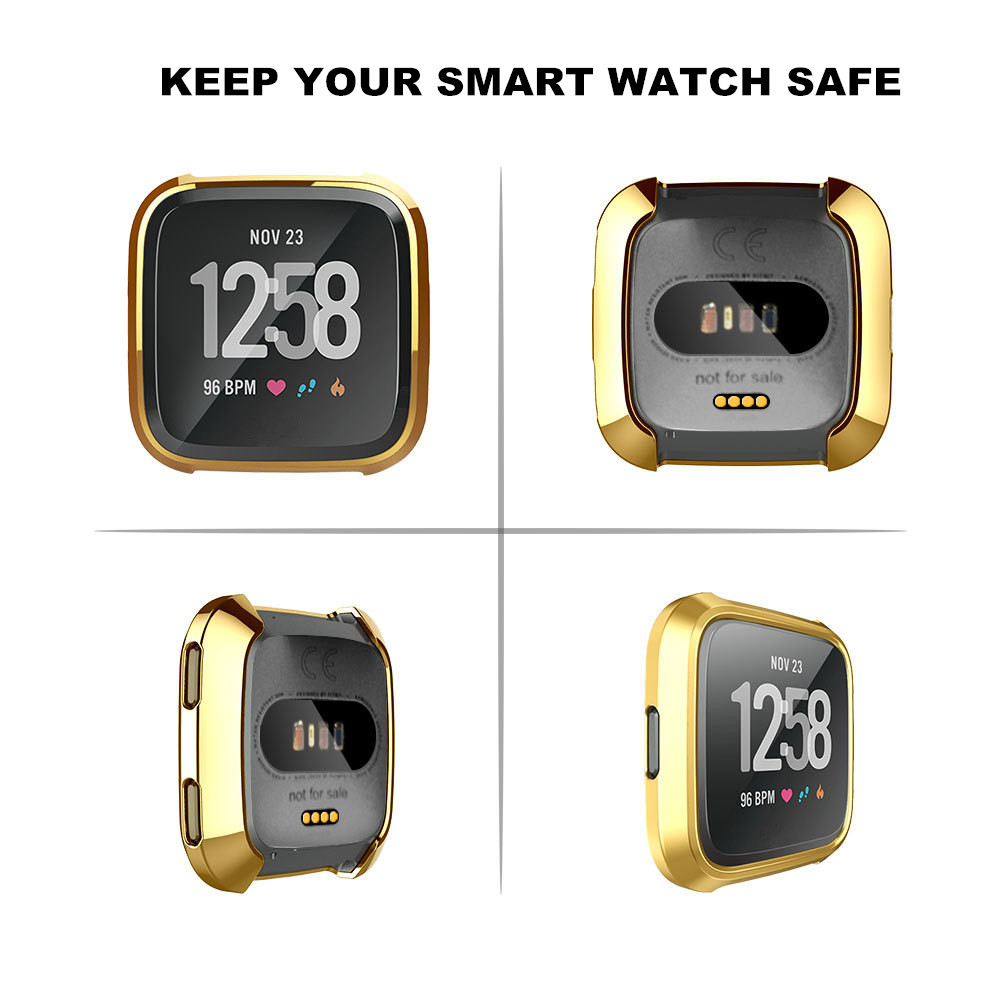Case for Fitbit Versa Smart Watch Plating Full Protect Cover Soft TPU