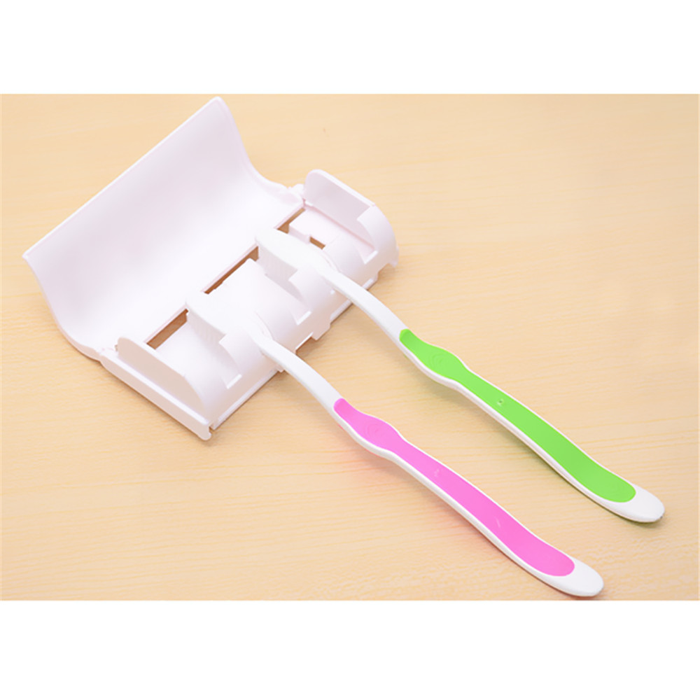 Auto Toothpaste Dispenser Squeezer Set with Wall Mount Toothbrush Holder Creative Bathroom Tool
