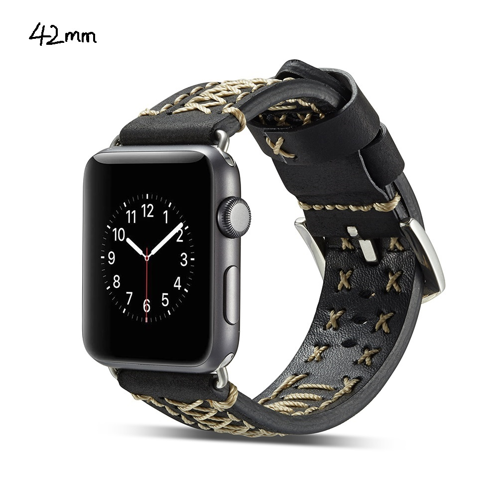 Genuine Leather Watch Band Wrist Strap For  iWatch Series 1 / 2 / 3 42mm